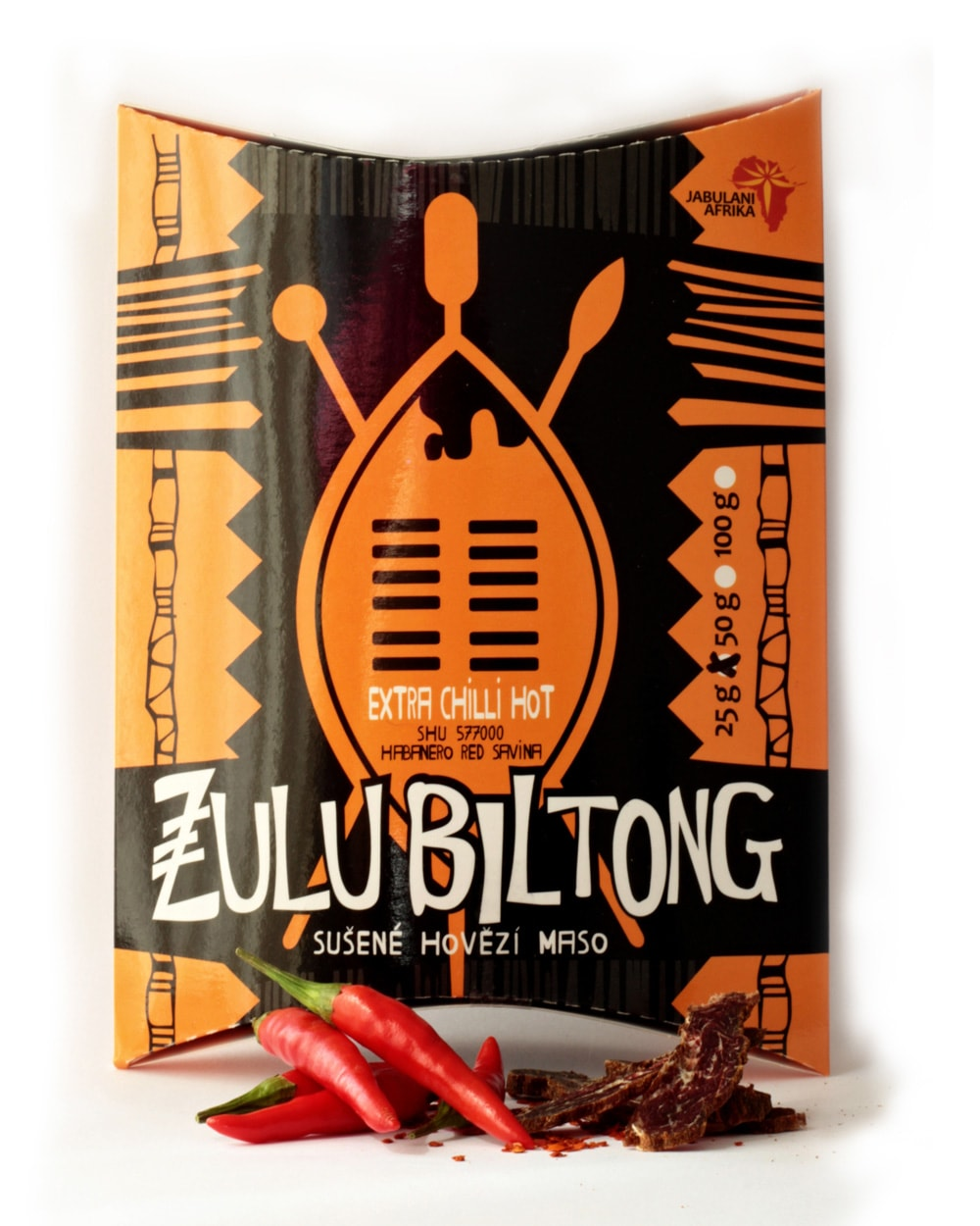 ZULU BILTONG  EXTRA HOT CHILLI